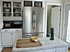 Use Baskets Above The Fridge Kitchen Storage