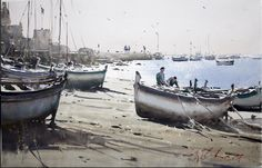 Joseph Zbukvic, gone to Quingdao for a combined show with David Taylor and John Yardley 2017 Travel Around The World, Around The Worlds, Joseph Zbukvic, Painters Studio, Watercolor Sea, Great Paintings, Artist Painting, Impressionist, Art Gallery