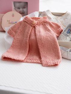 Baby's Cardigan (knit)   Yarn   Free Knitting Patterns   Crochet Patterns   Yarnspirations