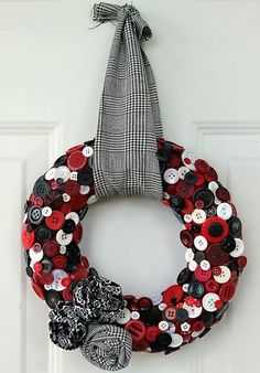 Up-cycled button wreath