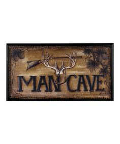Look what I found on #zulily! Antlers 'Man Cave' Wall Sign by Ohio Wholesale, Inc. #zulilyfinds