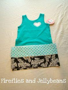 Fireflies and Jellybeans: Easy Toddler Summer Ruffle Dress Tutorial!