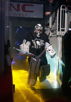 My Main Man Marc-Andre Fleury steps out onto the ice during introductions prior to the first home game versus Toronto 1/23/13