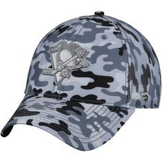 02d3b096bbeea Men s Pittsburgh Penguins Fanatics Branded Camo Gray Urban Trucker  Adjustable Hat