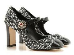 Dolce&Gabbana high heels Mary Janes in heather gray fabric Size US - IT 37 Mary Jane Heels, Mary Janes, Pumps Heels, High Heels, Ivory Shoes, Grey Leather, Leather Fabric, Shoes Outlet, Shoe Brands