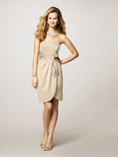 champagne bridesmaid dress style 7126 -- So in love with this dress!!!!!! AND IT'S FROM ALFRED ANGELO?!
