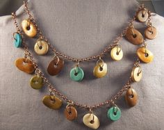 All totally hand forged copper components! Even the jump rings are hand made from copper wire. The beauty of Czech glass beads combined with warm