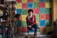 Nidaa Badwan.  A Gaza Artist Creates 100 Square Feet of Beauty, and She's Not Budging - NYTimes.com
