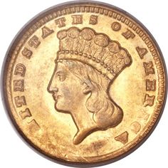 1861-D Gold Dollar, the key to the Gold Dollar Series.