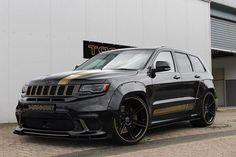 The Manhart is a pimped-up Jeep Grand Cherokee Track Hawk Srt8 Jeep, Grand Cherokee Trailhawk, Jeep Grand Cherokee Srt, Mopar, Best Jdm Cars, Custom Jeep, Dodge Durango, Car Goals, Fender Flares
