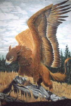 Known throughout History to be Protectors and guardians of precious things and places. A Griffin is a majestic beast part Lion, part Eagle. They are fiercely Territorial around their nest and will protect any castle that allows them to nest their young.