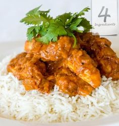 Easy Chicken Tikka Masala using only 4 Ingredients Slow Cooker Recipes, Meat Recipes, Chicken Recipes, Healthy Recipes, Savoury Recipes, Tikka Masala Paste, Chicken Tikka Masala, Shredded Bbq Chicken, Gastronomia