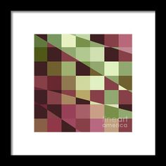 Deep Tuscan Red Purple And Green Abstract Low Polygon Background Framed Print By Aloysius Patrimonio