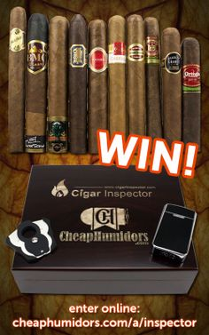 I just entered to win an awesome humidor and cigars from CheapHumidors.com and CigarInspector.com! Enter now!