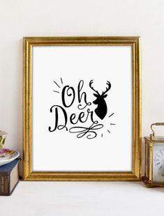This item is unavailable Cool Art, Fun Art, Deer Print, Oh Deer, Nursery Wall Art, Printable Wall Art, Wall Art Prints, Digital Prints, Wall Decor