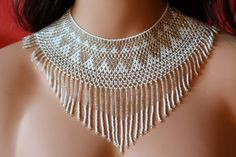 Very chic chaquira handbeaded necklace choker by CreationsLuz