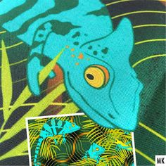 """It's a chameleon looking at you 🦎👀. . Detail of my Turquoise Chameleon Truchet, also called """"Lost in the woods"""" 😄 Printed on @Spoonflower Petal Signature Cotton. This design is available in two colorways, link to my shop is in my bio. . Zum #detaildienstag ein Detail aus meinem Design Turquoise Chameleon Truchet, auch genannt """"Lost in the woods"""" 😄. Hier gedruckt auf Petal Signature Cotton (Baumwollstoff Klassik) Es ist in zwei Farben in meinem @Spoonflowerde Shop erhältlich, Link ist in… Shops, Chameleon, Spoonflower, Lost, Turquoise, Detail, Printed, Cotton, Design"""
