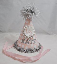 Girl 1/2 Birthday Hat by CardsandMoorebyTerri on Etsy, $12.00