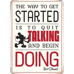 Product Image of Mickey Mouse ''Quit Talking'' Tin Wall Decor # 1