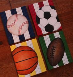 8 x 10 Custom Wall Art Sports Baseball Soccer Golf por slharnisch baseball x Custom Wall Art Sports Baseball Soccer Golf Basketball Football Hockey Canvas Boys Bedding Room Decor(price per canvas)