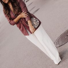 Even though I love designer pieces as much as the next person, it's very easy these days finding similar pieces in high street stores without breaking the bank. Here I share with you my favorite go-to places to score great designs at an affordable price. White Wide Leg Pants, White Jeans, Blazer Outfits, Pants Outfit, Blazers, High Street Stores, Zara, Suit Pants, White Suits