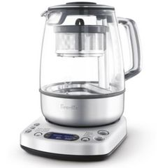 I use this everyday - best tea maker! Breville One-touch Tea Maker contemporary coffee makers and tea kettles Machine Expresso, Thé Oolong, Espresso Kitchen, Espresso Coffee, Perfect Cup Of Tea, Cafetiere, Glass Jug, Glass Teapot, Brewing Tea