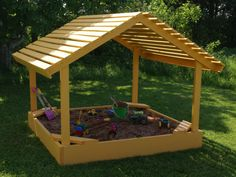 Plans to Build A 6' x 6' Covered Sandbox Sand Box Playground Equipment