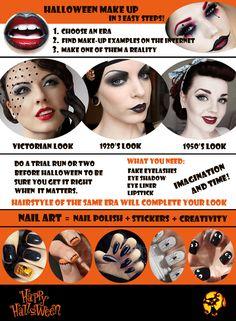 Halloween Make Up in 3 Easy Steps  #halloween #makeup  http://wardrobeshop.com/wardrobeshop-fashion-blog/halloween-make-up-in-3-easy-steps/