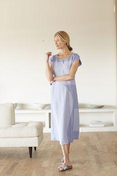 Pure Jill color block linen dress