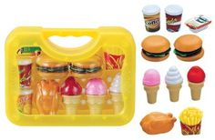 Deluxe Fast Food Lunch Play Set for Kids with Burgers, Chicken, Fench Fries, Ice Cream Dessert and Drinks Cooking Playset http://www.amazon.com/dp/B00IGH5ZS6/ref=cm_sw_r_pi_dp_ggDeub14SFXTM