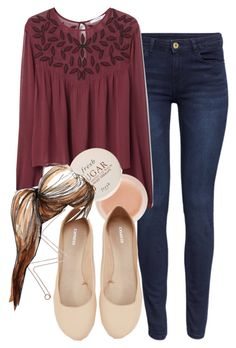 """""""Davina inspired outfit"""" by tvdstyleblog ❤ liked on Polyvore featuring H&M, MANGO, Express, Fresh, Dogeared, women's clothing, women, female, woman and misses"""