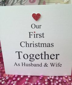 The 9 best husband wife personalised christmas cards images on personalised christmas card first christmas husband and wife couple mr mrs m4hsunfo