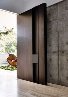 Beautiful Door Design Ideas For Inspiration - Page 13 of 41 Modern Entrance Door, Modern Front Door, Front Door Design, Entrance Design, Front Entry, Entry Doors, Front Porch, Best Front Doors, Wood Front Doors