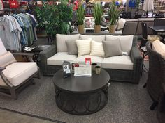 Summer Classics - Rustic Sofa and Croquet Spring Lounge Chair. Eclectic Coffee and End available as additional items.