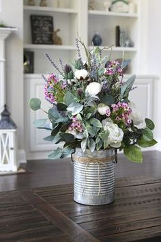Items Similar to Farmhouse Decor ~ Spring Centerpiece ~ Table Decoration ~ . - Items similar to farmhouse decor ~ spring centerpiece ~ table decoration ~ roses, peonies, lavender - Centerpiece Table, Succulent Centerpieces, Elegant Centerpieces, Kitchen Centerpiece, Wedding Centerpieces, Deco Floral, Motif Floral, Decoration Bedroom, Decoration Table