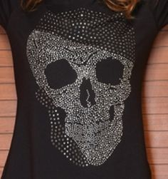 embroidered skull and crossbones tshirt. free by MaritzaDesingShop, $62.00