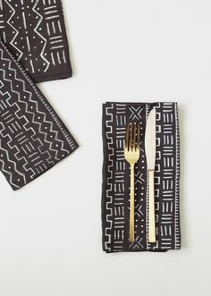 Make mud cloth napkins with fabric markers.