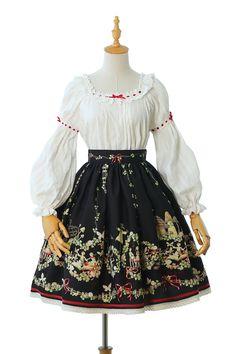 Yolanda -Fleurs et écho- Classic Lolita Skirt