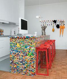 Revestimento com LEGO