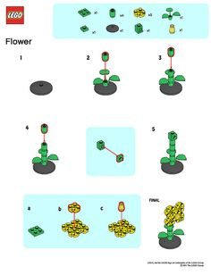LEGO Store MMMB - May '11 (Flower) Instructions) by TooMuchDew, via Flickr