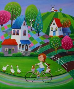 View Iwona Lifsches's Artwork on Saatchi Art. Find art for sale at great prices from artists including Paintings, Photography, Sculpture, and Prints by Top Emerging Artists like Iwona Lifsches. Art And Illustration, Illustrations, Art Fantaisiste, Art Mignon, Ouvrages D'art, Naive Art, Whimsical Art, Acrylic Painting Canvas, Fine Art Paper