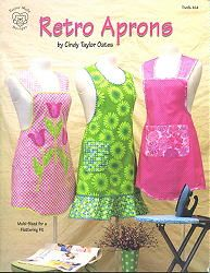 RETRO APRONS PATTERNS BY CINDY TAYLOR OATES.