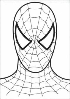 Color drawing to print: Famous people - Comics - Spiderman num . - Color drawing to print: Famous people - Comics - Spiderman number 18840 Comics Spiderman, Spiderman Face, Spiderman Theme, Black Spiderman, Coloring Sheets For Kids, Colouring Pages, Free Coloring, Coloring Books, Cake Templates
