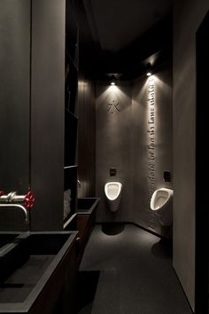 Gallery of Taizu Restaurant / Pitsou Kedem Architects + Baranowitz-Amit Design Studio - 21 - Toilets - Design Restaurant Bad, Concept Restaurant, Restaurant Bathroom, Restaurant Design, Bathroom Spa, Bathroom Toilets, Bathroom Interior, Modern Bathroom, Bathroom Lighting