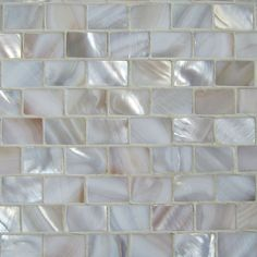 Natural Varied Mother of Pearl Minibrick - LOVE the idea of this as fireplace surround ~R