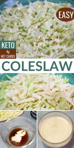 Only 5 ingredients and about five minutes are needed to make keto coleslaw. Its a salad with creamy, low-carb dressing over shredded cabbage.