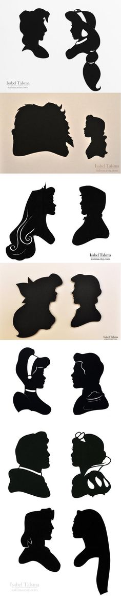 28 Ideas For Kids Room Disney Princess Silhouette Walt Disney, Disney Pixar, Disney And Dreamworks, Disney Love, Disney Magic, Disney Stuff, Disney Characters, Couple Disney, Disney Couples