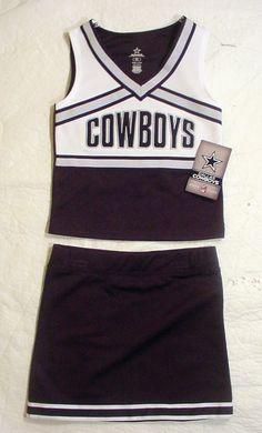 NWT Dallas Cowboys Girls Cheerleader Uniform Outfit Halloween Costume Sz XS  - L  DallasCowboys   1da783e9f