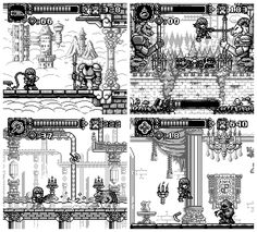 In no relation (but a very nice bonus to tie in) of Halloween comes Castlevania 2 - Belmont's Revenge…re-demake! That's right another one, I had so much fun with the last one I was itching to do. Game Level Design, Game Design, Design Ideas, Pixel Art Background, Pixel Art Games, Game Concept Art, Game Art, Art Reference, Pokemon