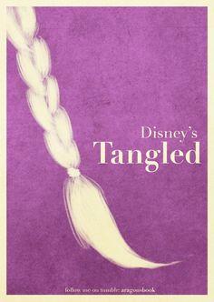 Tangled ~ Minimal Movie Poster by Mario Aragon Tangled Rapunzel, Disney Tangled, Disney Magic, Tangled Movie, Tangled 2010, Disney Nerd, Disney Girls, Disney Disney, Disney Princess